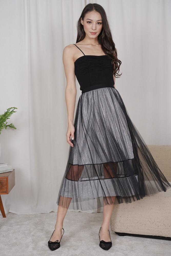 Susana Tulle Skirt in Black - Online Exclusive
