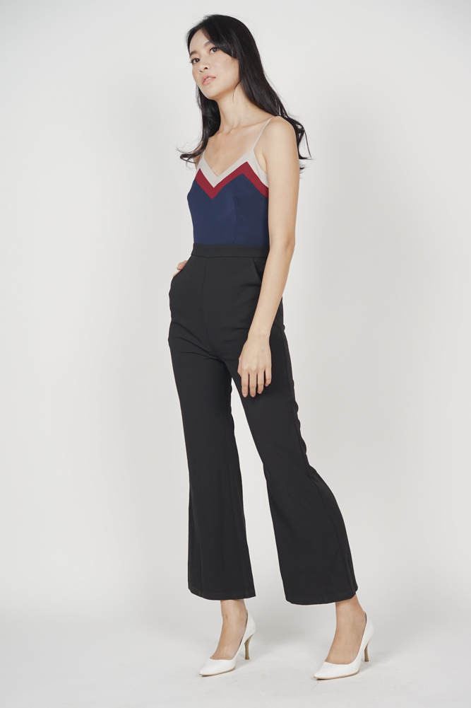 56cbd6356e1e Delxie Contrast Jumpsuit in Black Delxie Contrast Jumpsuit in Black