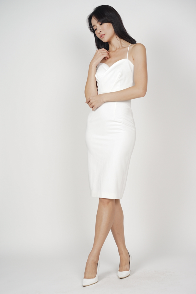 Anastasia Midi Dress in White