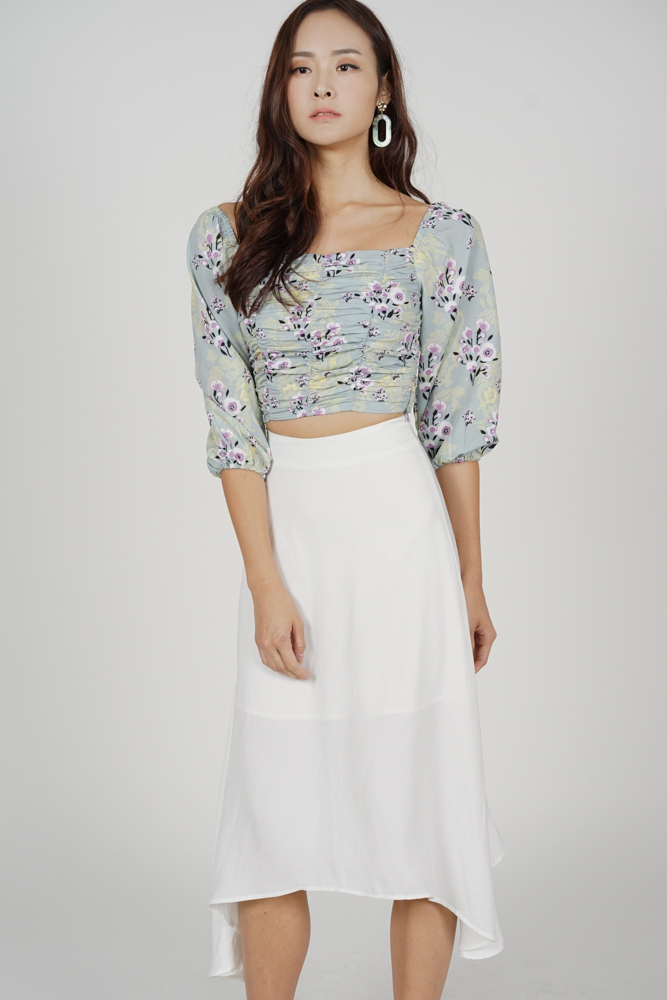 Belov Flared Skirt in White - Arriving Soon