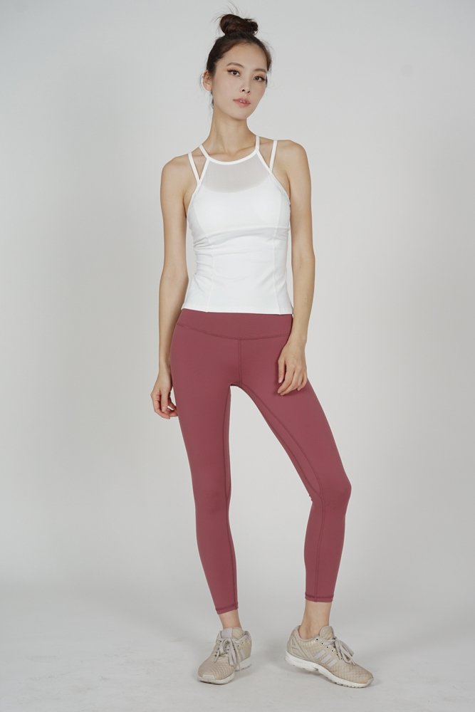 Hi-Rise Yoga Pants in Dark Mauve