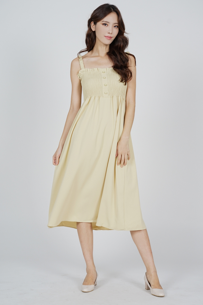 Ivia Smock Dress in Yellow - Online Exclusive