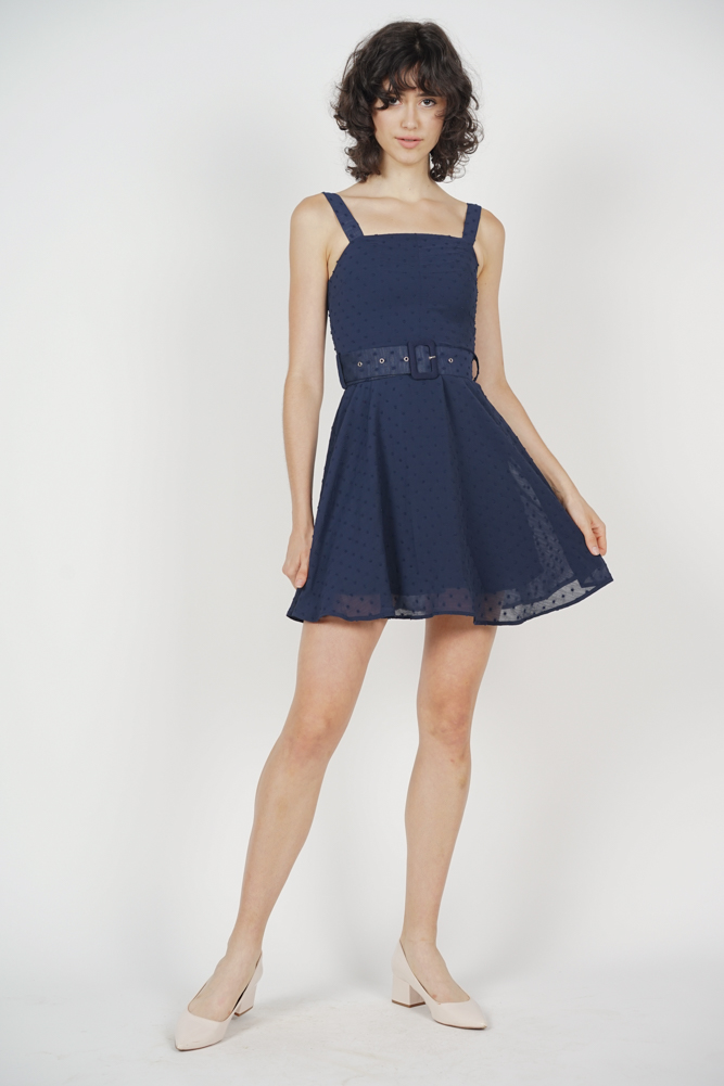Gina Flare Dress in Midnight - Arriving Soon