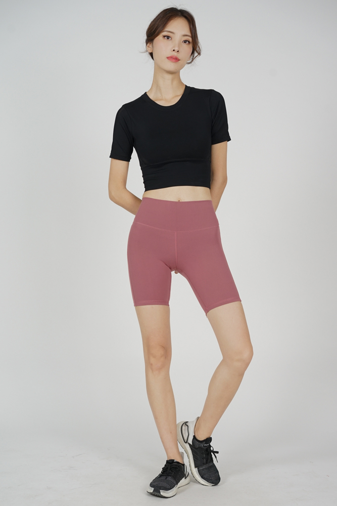 Bettie Gym Shorts in Mauve - Arriving Soon