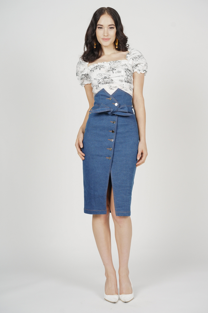Alris Denim Skirt in Blue