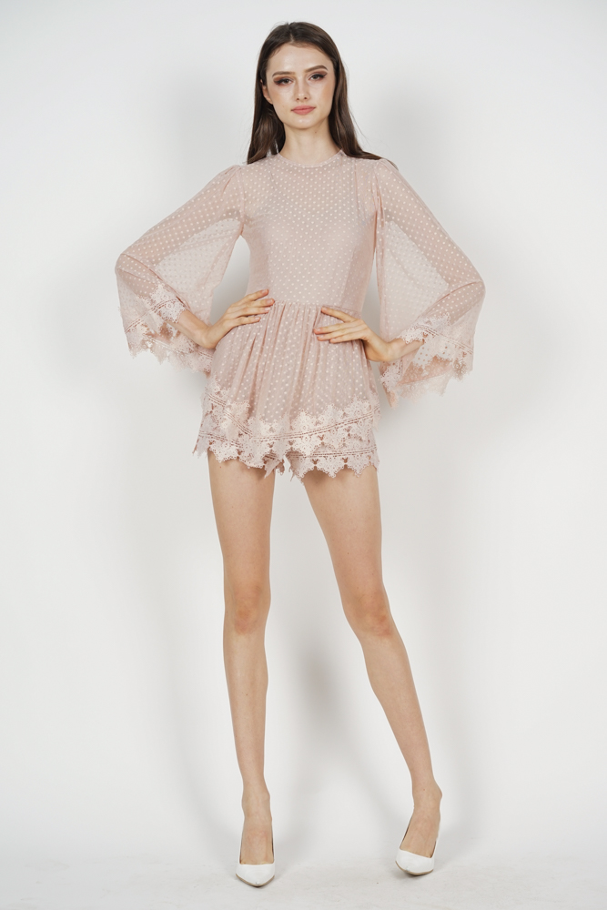 Alyxa Lace Romper in Dusty Pink - Arriving Soon