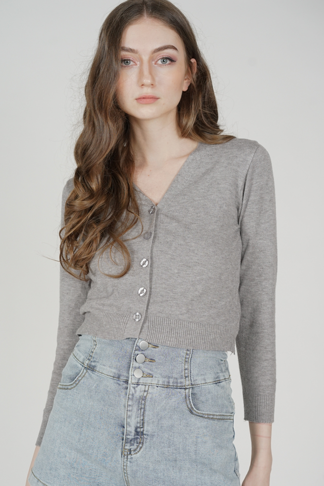 Uzan Cardigan in Grey - Online Exclusive