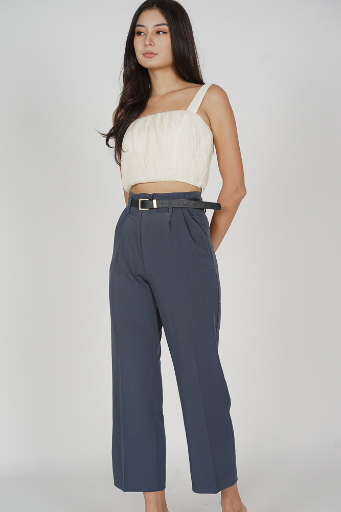 Gina Wide Leg Pants in Grey - Online Exclusive