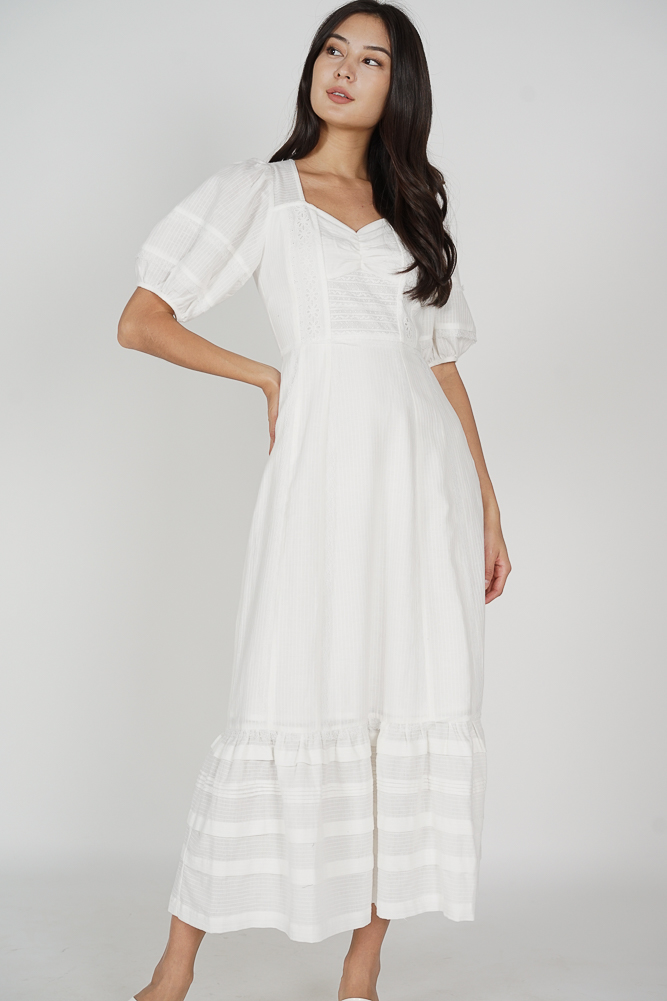 Tiffany Crochet Dress in White - Arriving Soon