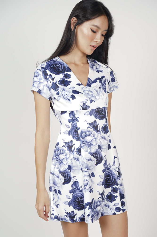 Katreina Flare Dress in Porcelain - Online Exclusive