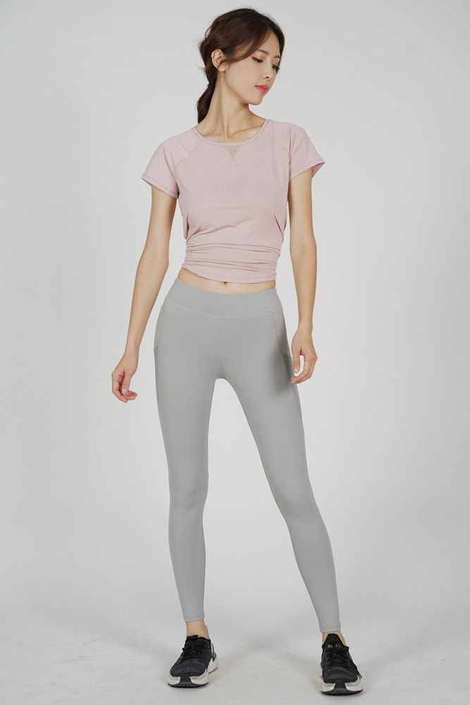 Lilie Gym Tights in Light Grey - Arriving Soon