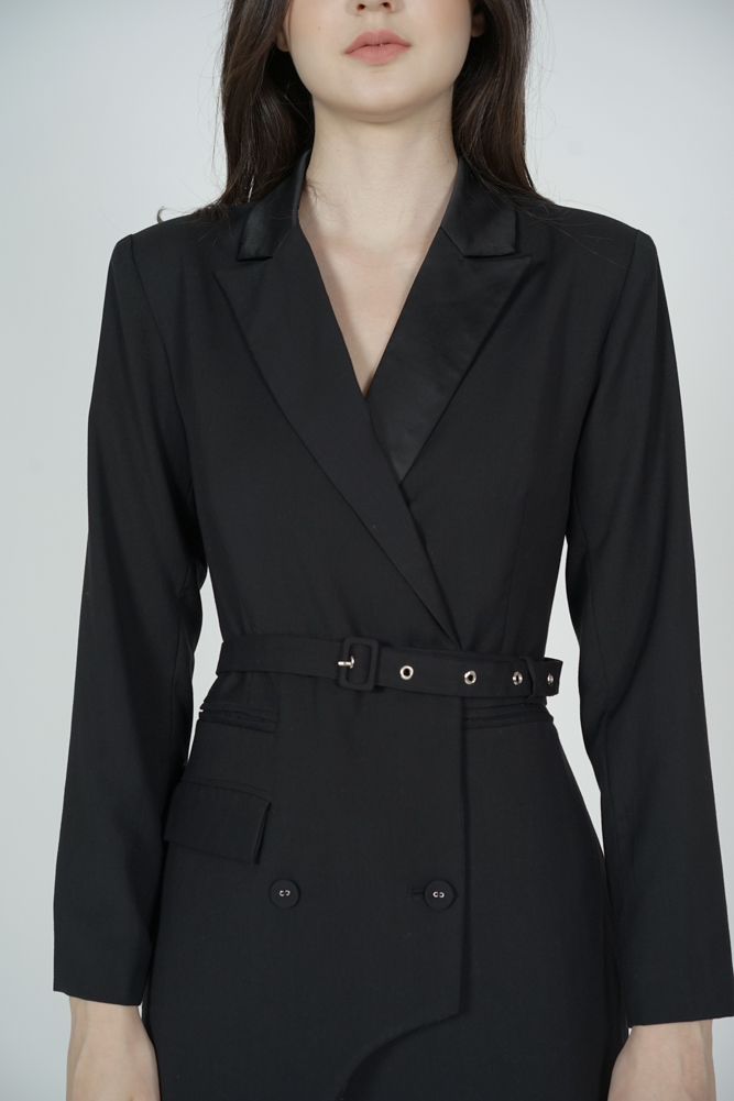 Morris Blazer Dress in Black - Arriving Soon
