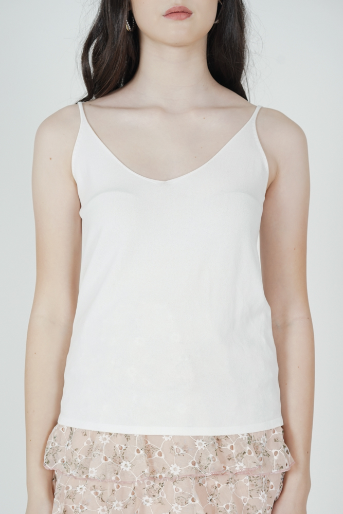 Madina Cami Top in White - Online Exclusive