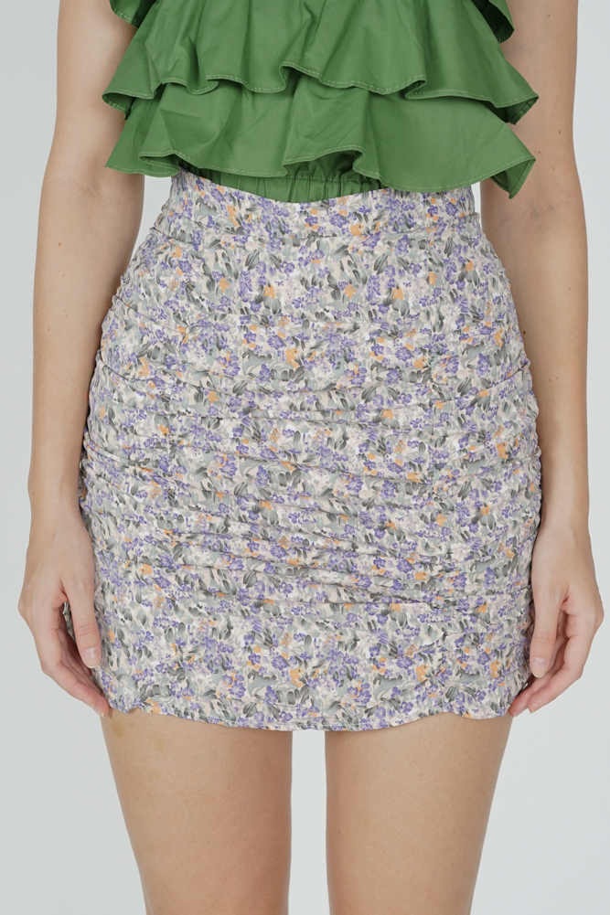 Winona Floral Skorts in Purple - Online Exclusive