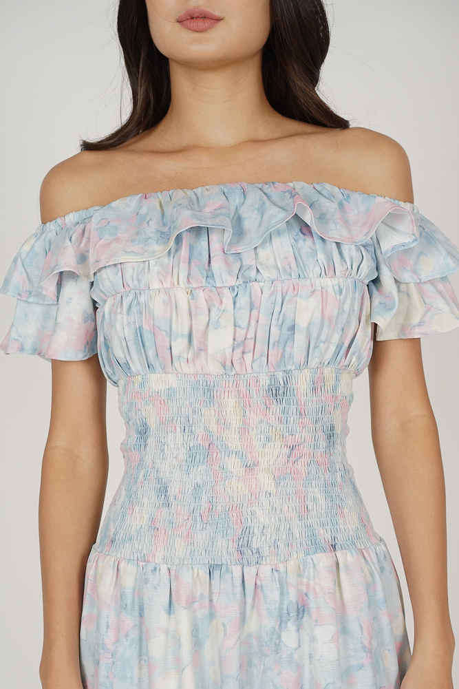Taki Smocked Dress in Pastel Abstract - Arriving Soon