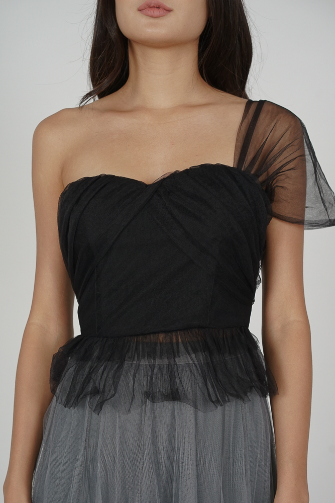 Haiken Tulle Top in Black - Arriving Soon