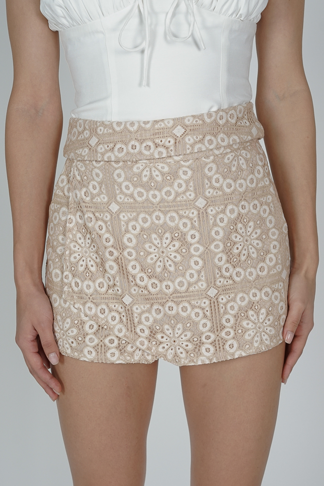 Nezu Asymmetric Skorts in Nude - Arriving Soon