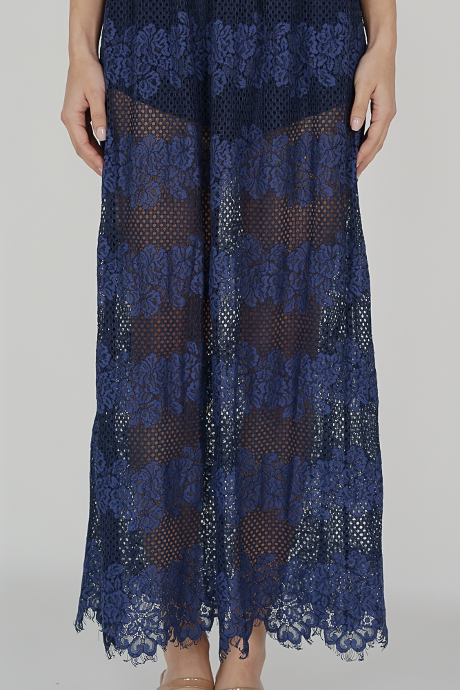 Zaeny Maxi Romper Dress in Navy - Arriving Soon