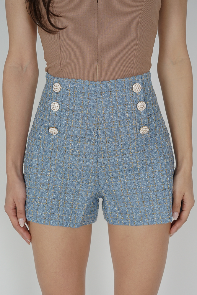 Boran Mini Shorts in Light Blue - Online Exclusive