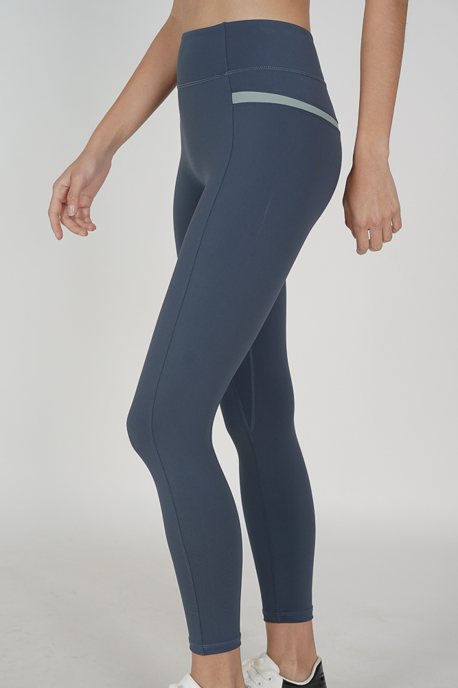 Delton Contrast Gym Tights in Dark Teal - Arriving Soon