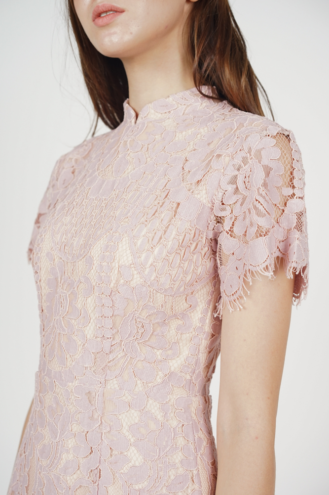 Anni Cheongsam Dress in Pink - Arriving Soon