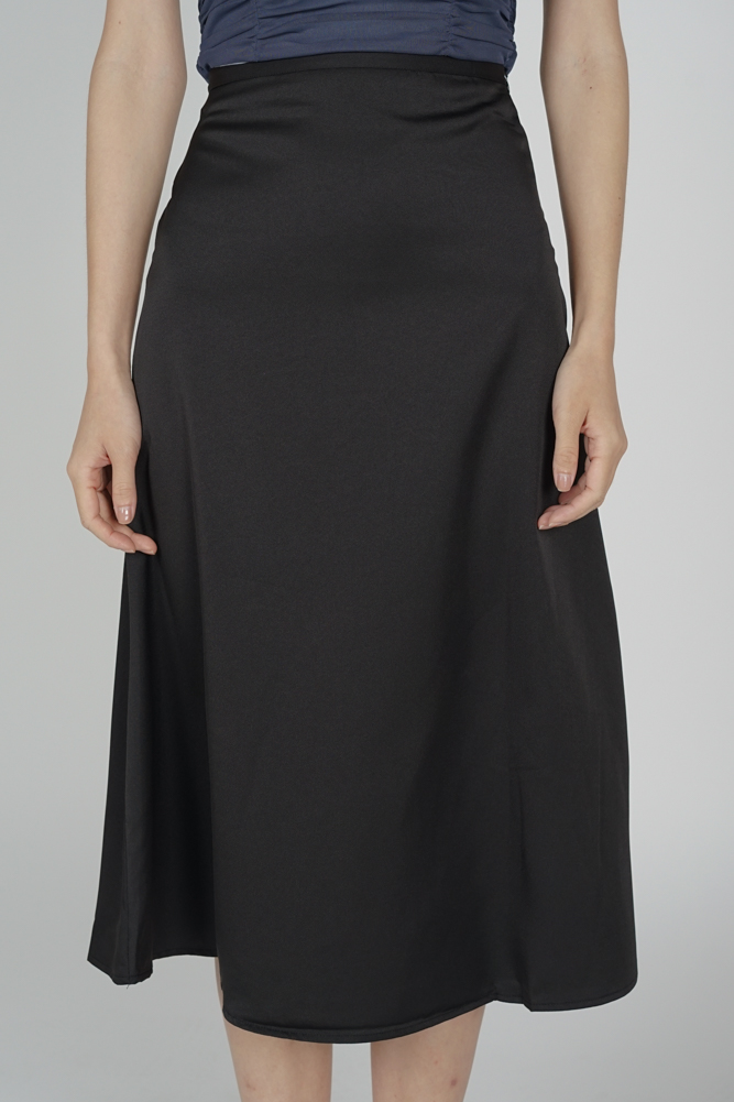 Evelyn Flared Skirt in Black - Online Exclusive