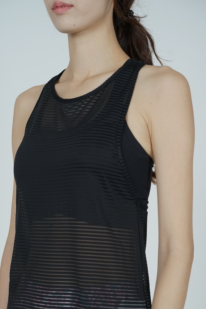 Albea Mesh Top in Black - Arriving Soon
