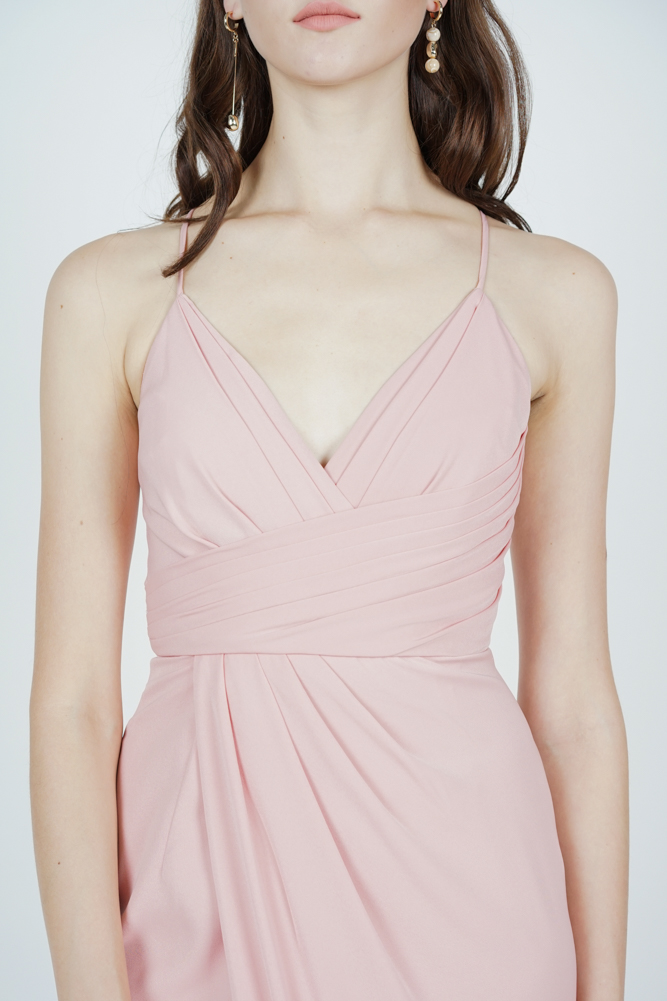 Shona Drape Dress in Pink - Arriving Soon