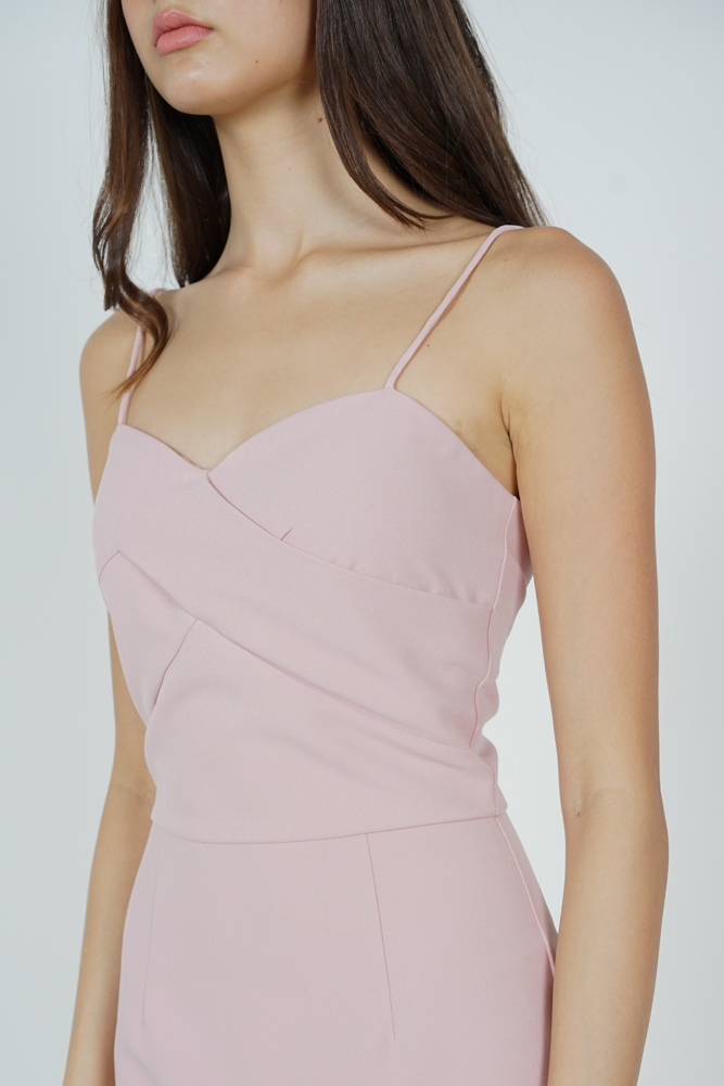 Stella Ruffled-Hem Dress in Pink