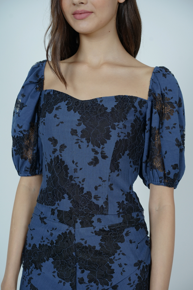 Erisea Lace Top in Midnight - Arriving Soon