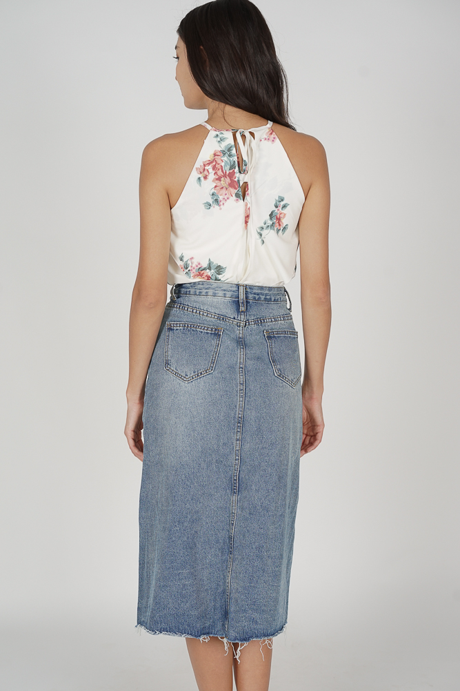 Fred Denim Skirt in Blue - Online Exclusive