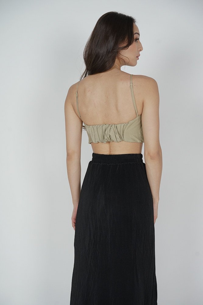 George Cami Top in Khaki - Online Exclusive