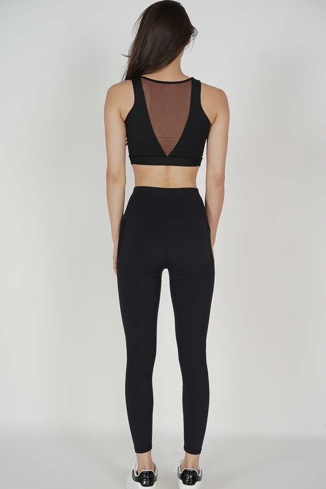 Wikia Mesh Gym Tights in Black - Arriving Soon