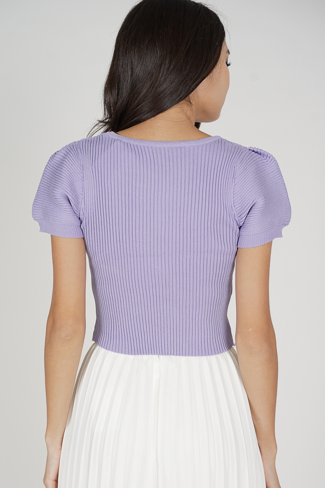 Onah Puffy Top in Lilac - Online Exclusive