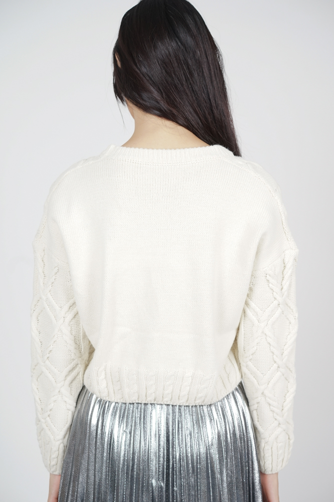 Valerie Knit Top in Ivory - Online Exclusive