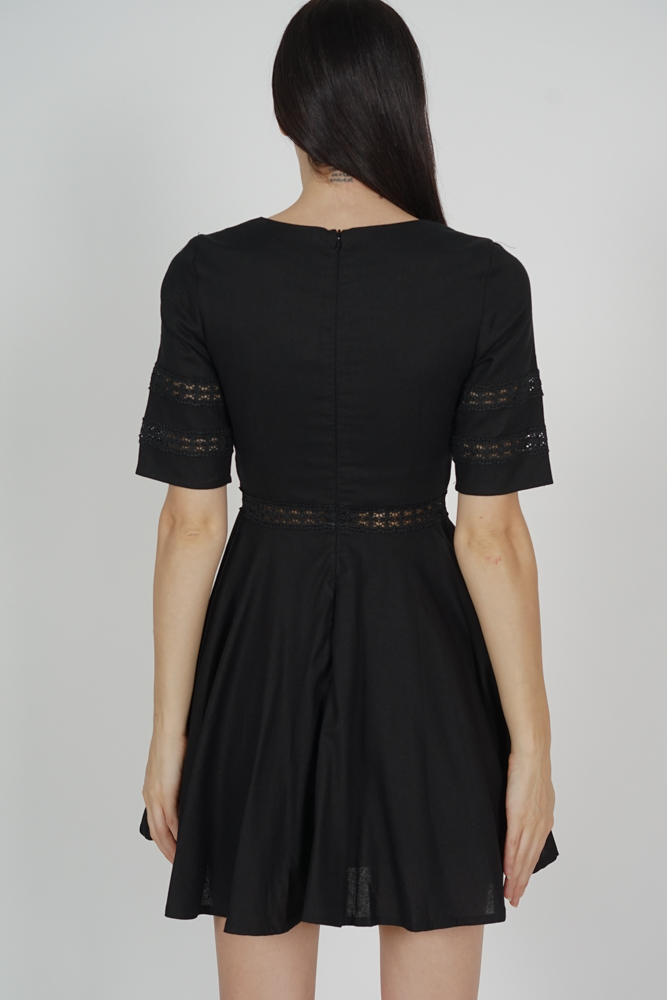 Taylor Flared Dress in Black - Arriving Soon