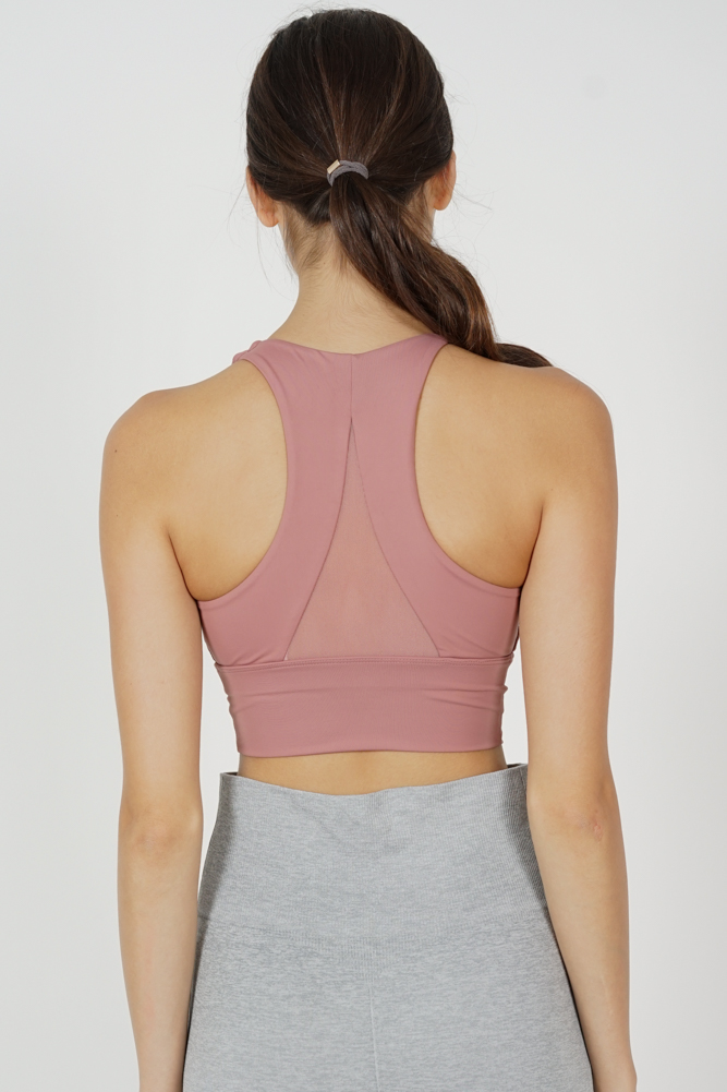 Rugia Padded Crop Top in Pink - Arriving Soon