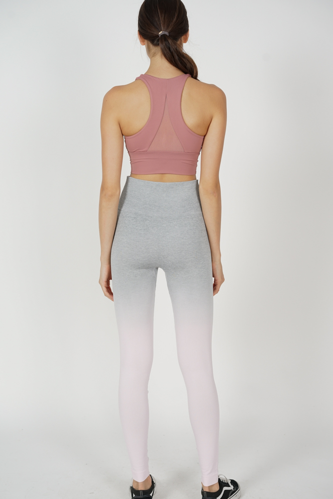 Allia Ombre Gym Tights in Grey Pink - Arriving Soon