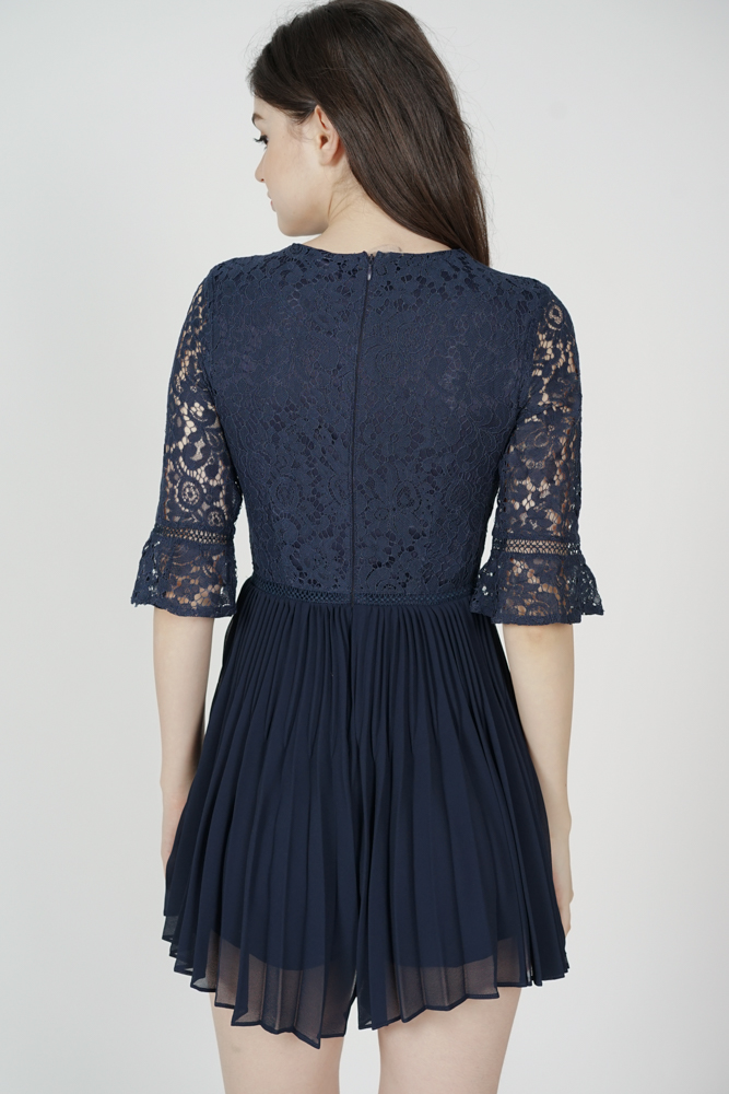 Moira Lace Romper in Midnight - Arriving Soon