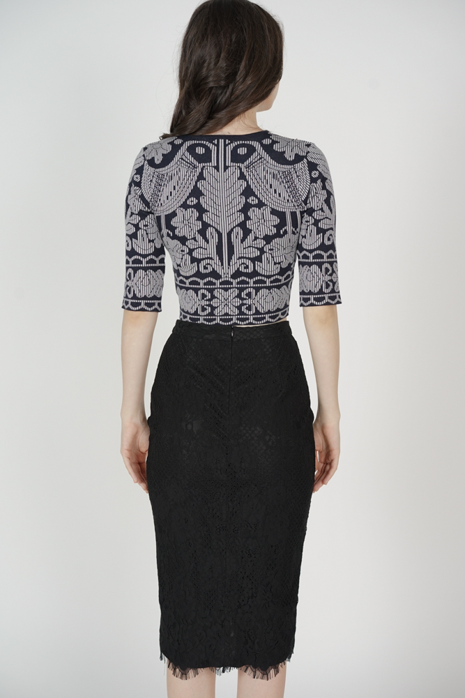 Heisley Lace Skirt in Black - Arriving Soon