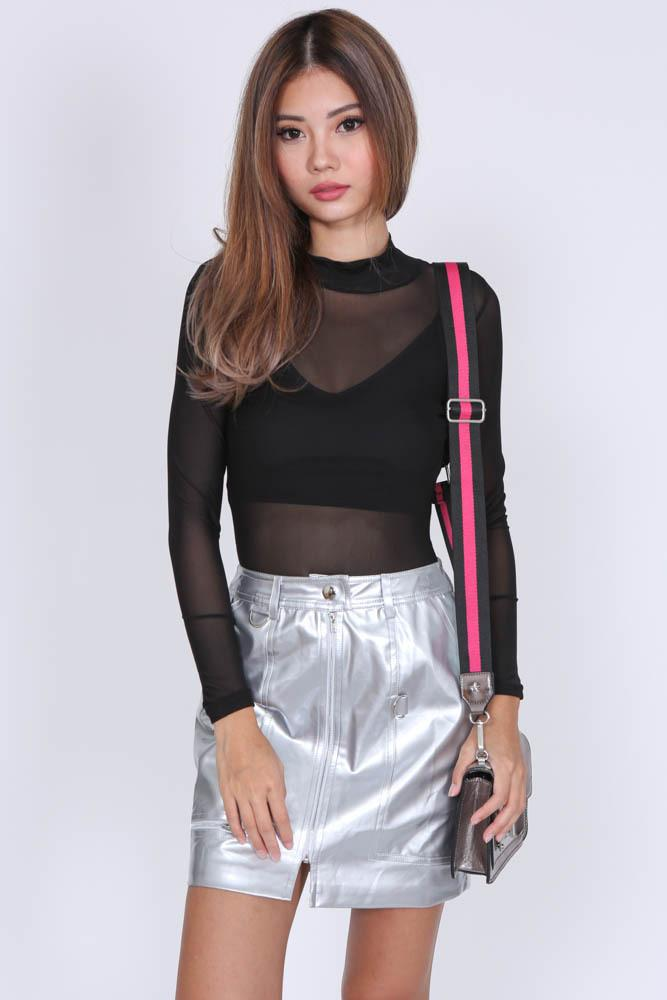 Candace Skirt in Silver