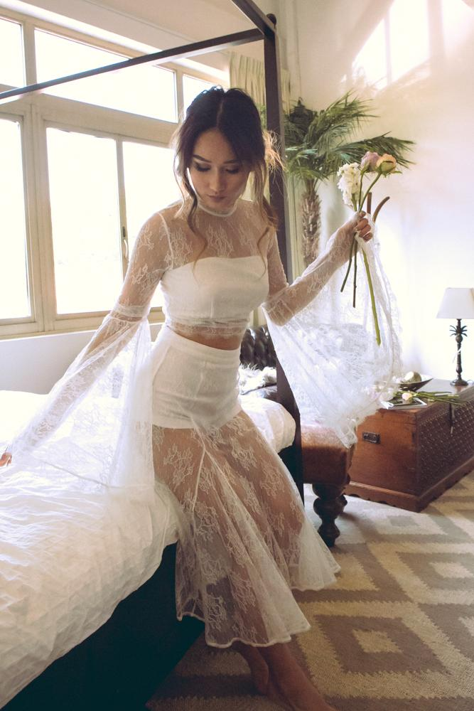 Scarlett Skirt in Off White