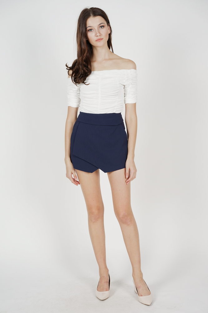 Ellina High Waist Skorts in Navy - Arriving Soon