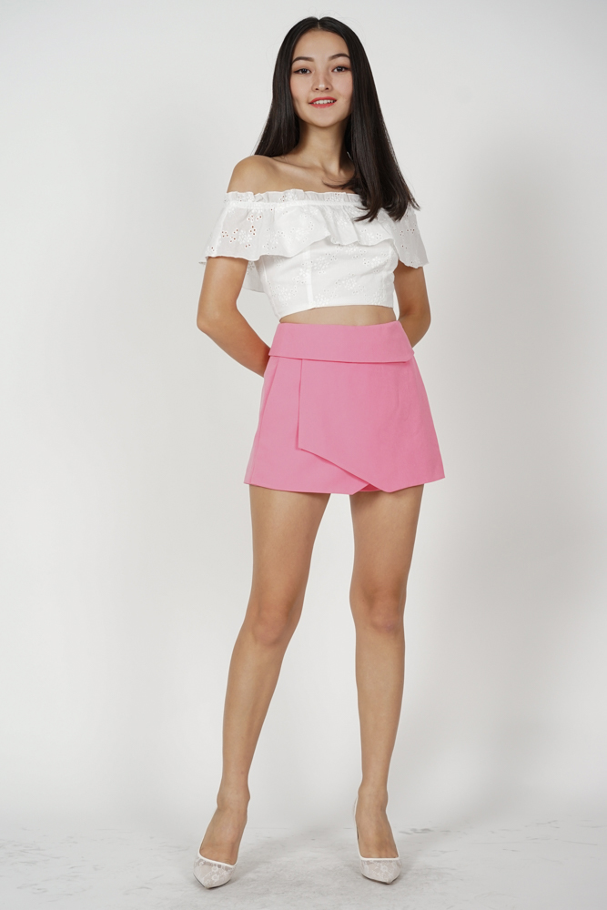 Ellina High Waist Skorts in Pink