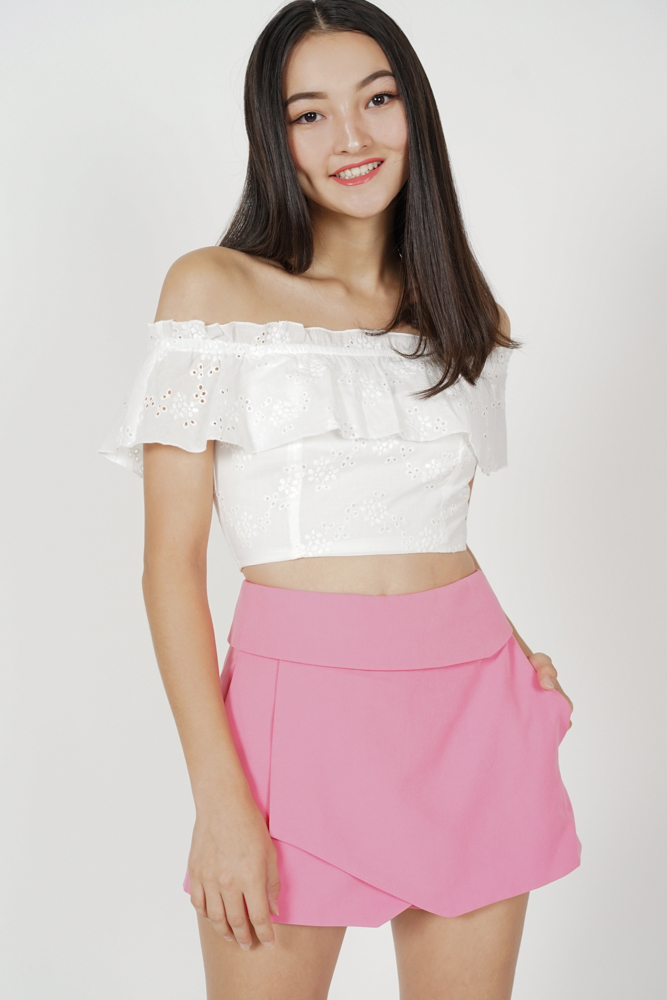Ellina High Waist Skorts in Pink - Arriving Soon