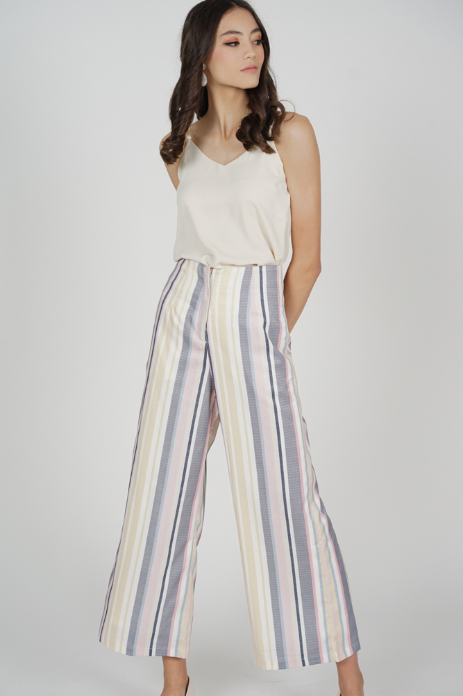 Zora Flared Pants in Multi Stripes - Arriving Soon