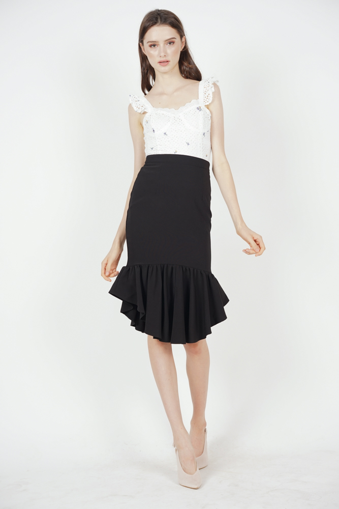 Donella Mermaid Skirt in Black