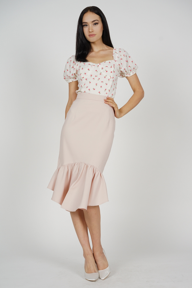 Donella Mermaid Skirt in Pink - Arriving Soon