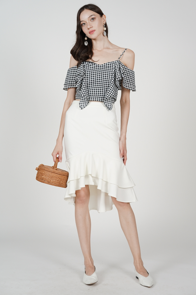 Sebelle Mermaid Skirt in White