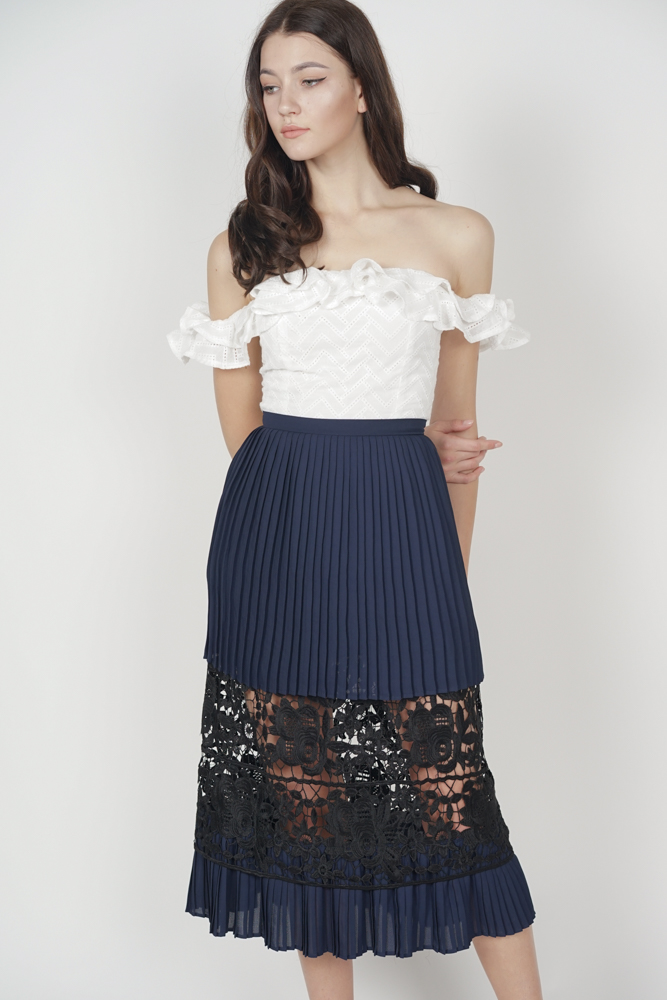 Drucilla Pleated Skirt in Midnight